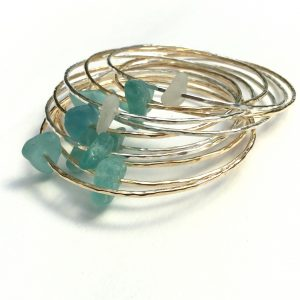 Hawaiian Sea Glass Bangle