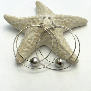Double Hoola Hoops with Tahitian Pearls