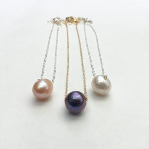 Fresh Water Pearl Slide Necklace